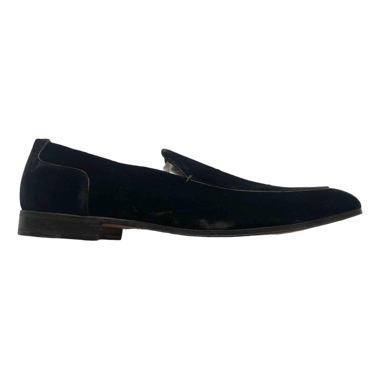 Yves Saint Laurent \N Black Velvet Flats for Men 44 EU