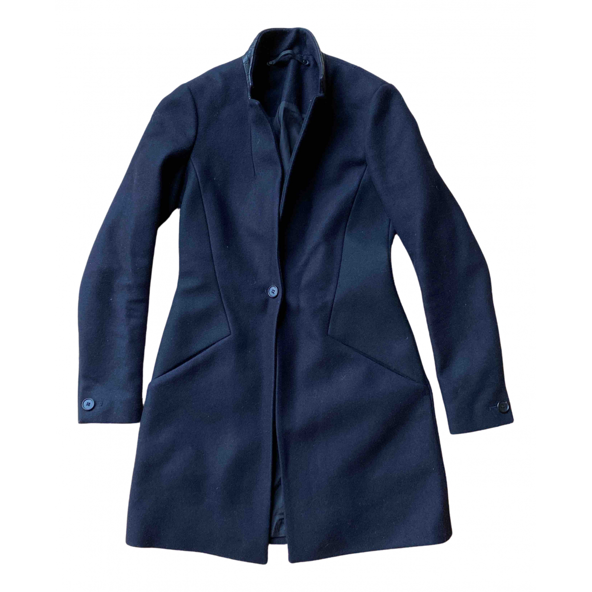 All Saints N Blue Wool coat for Women 32 FR
