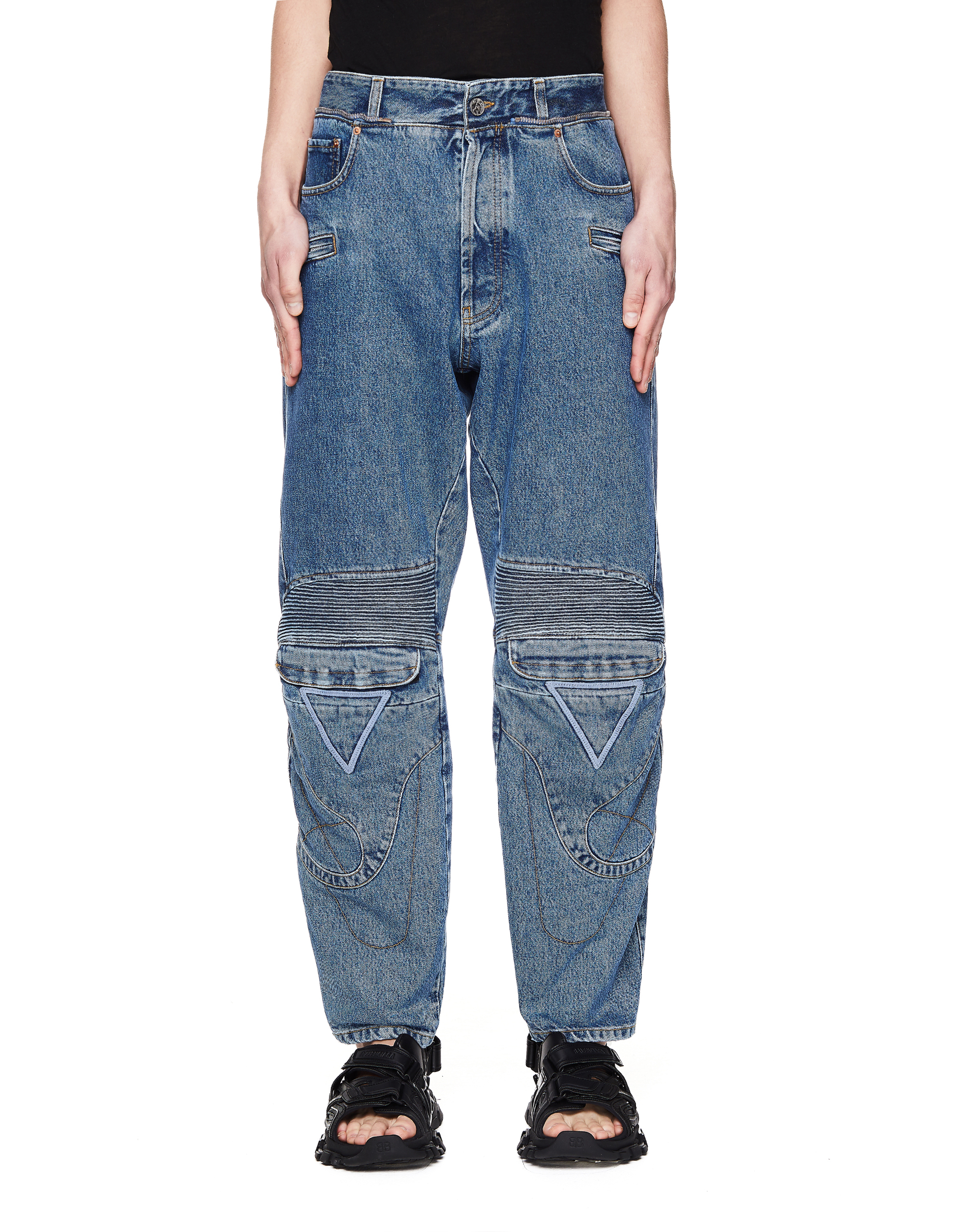 Vetements Blue Biker Jeans