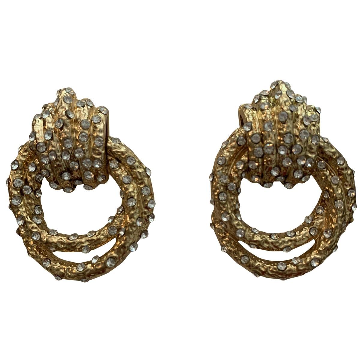 Zara \N OhrRing in  Gold Kristall