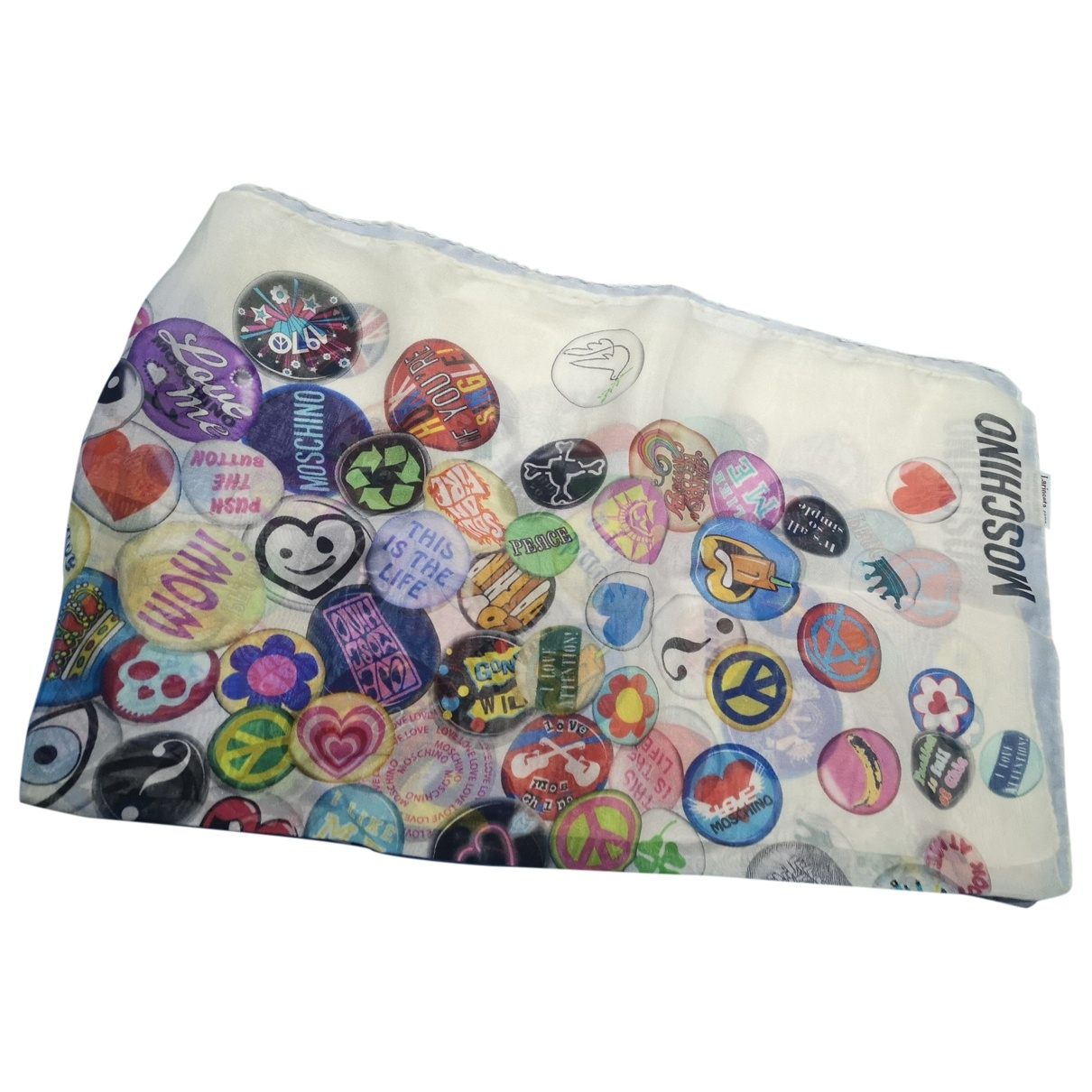 Moschino \N White Silk Silk handkerchief for Women \N