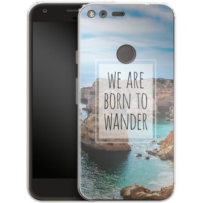 Google Pixel Silikon Handyhuelle - Born to Wander von Joel Perroden