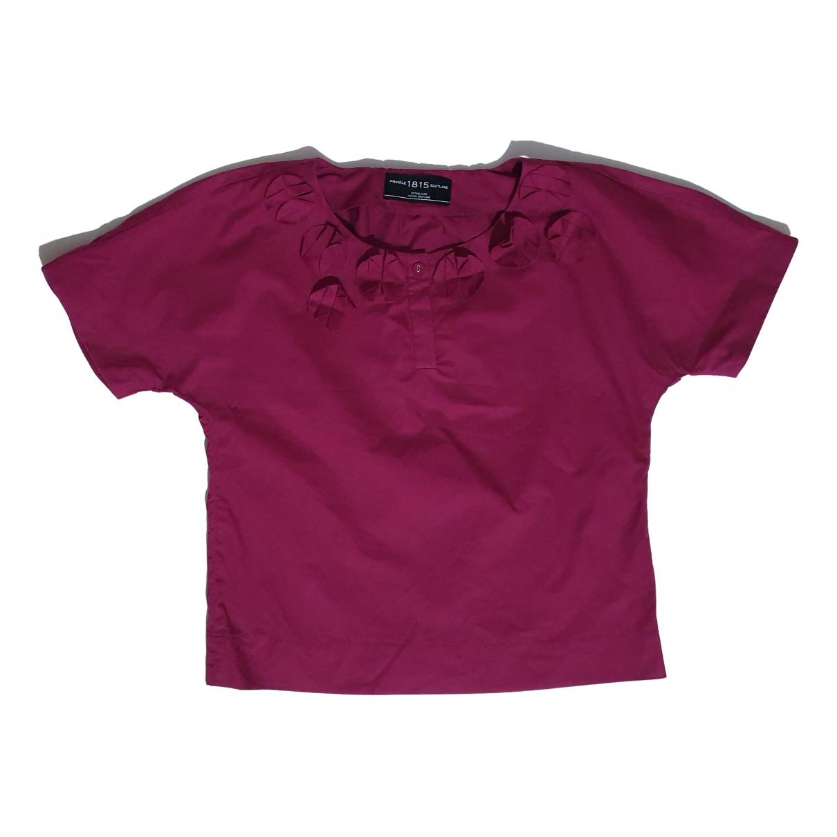 Pringle Of Scotland - Top   pour femme en coton - violet