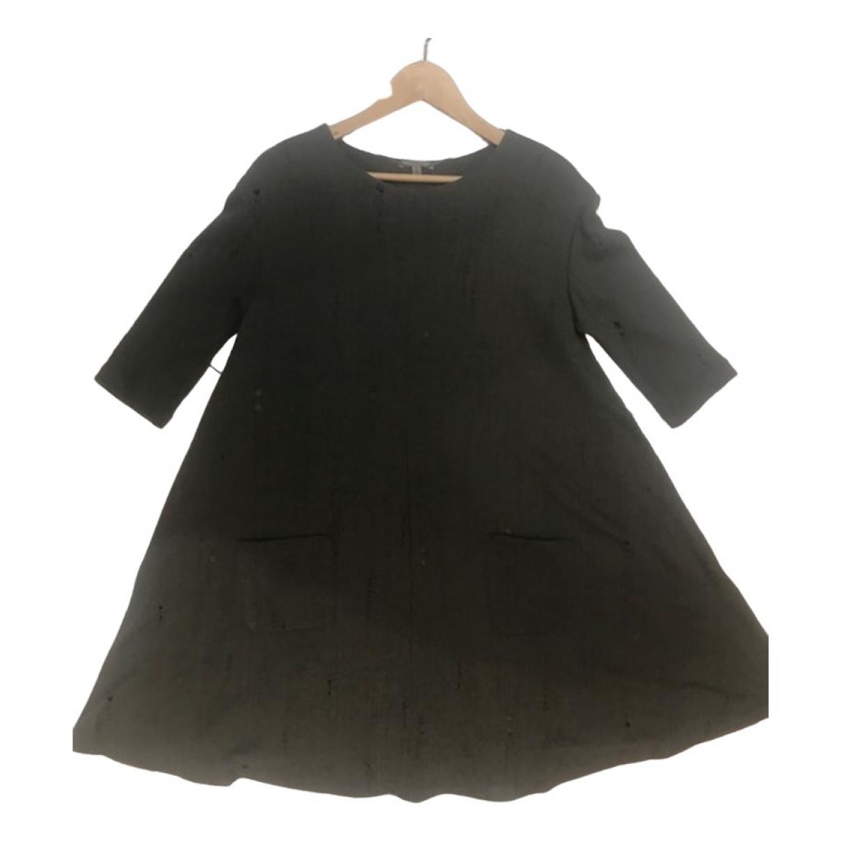 Uterque \N Kleid in  Khaki Wolle