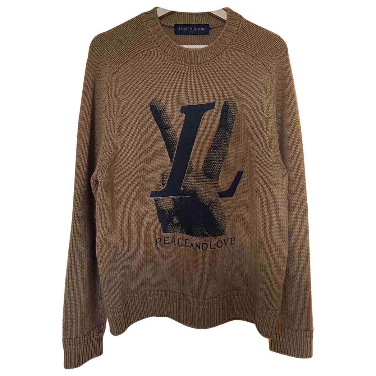 Louis Vuitton \N Pullover.Westen.Sweatshirts  in  Kamel Kaschmir