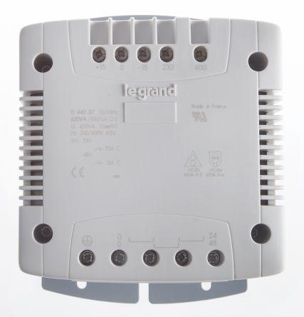 Legrand 630VA Panel Mount Transformer, 230V ac, 400V ac Primary, 24V ac Secondary