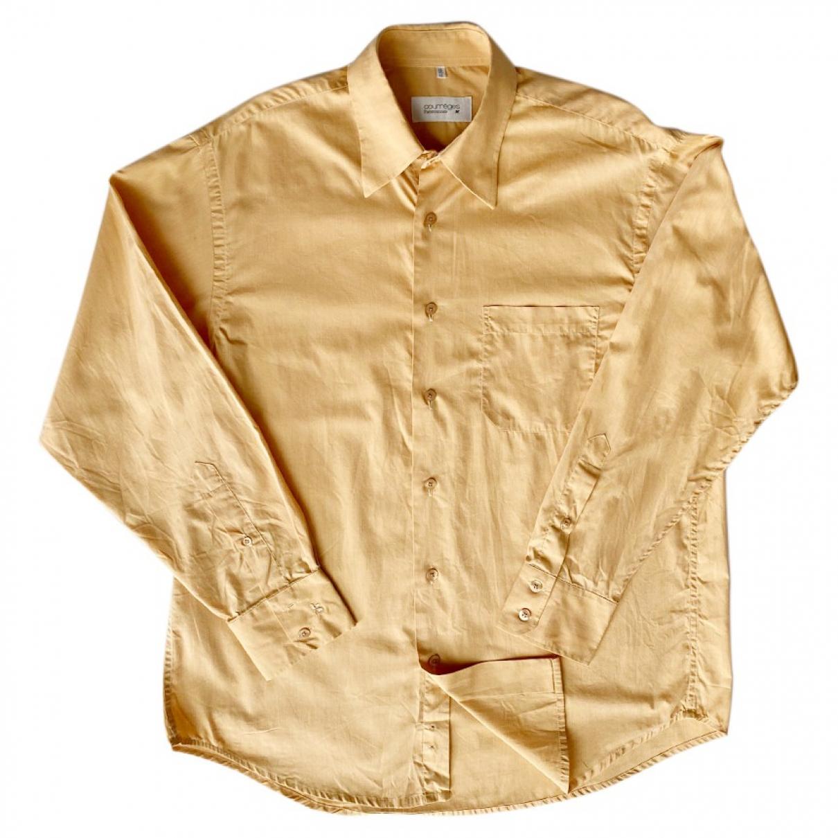 Courreges - Chemises   pour homme en coton - jaune