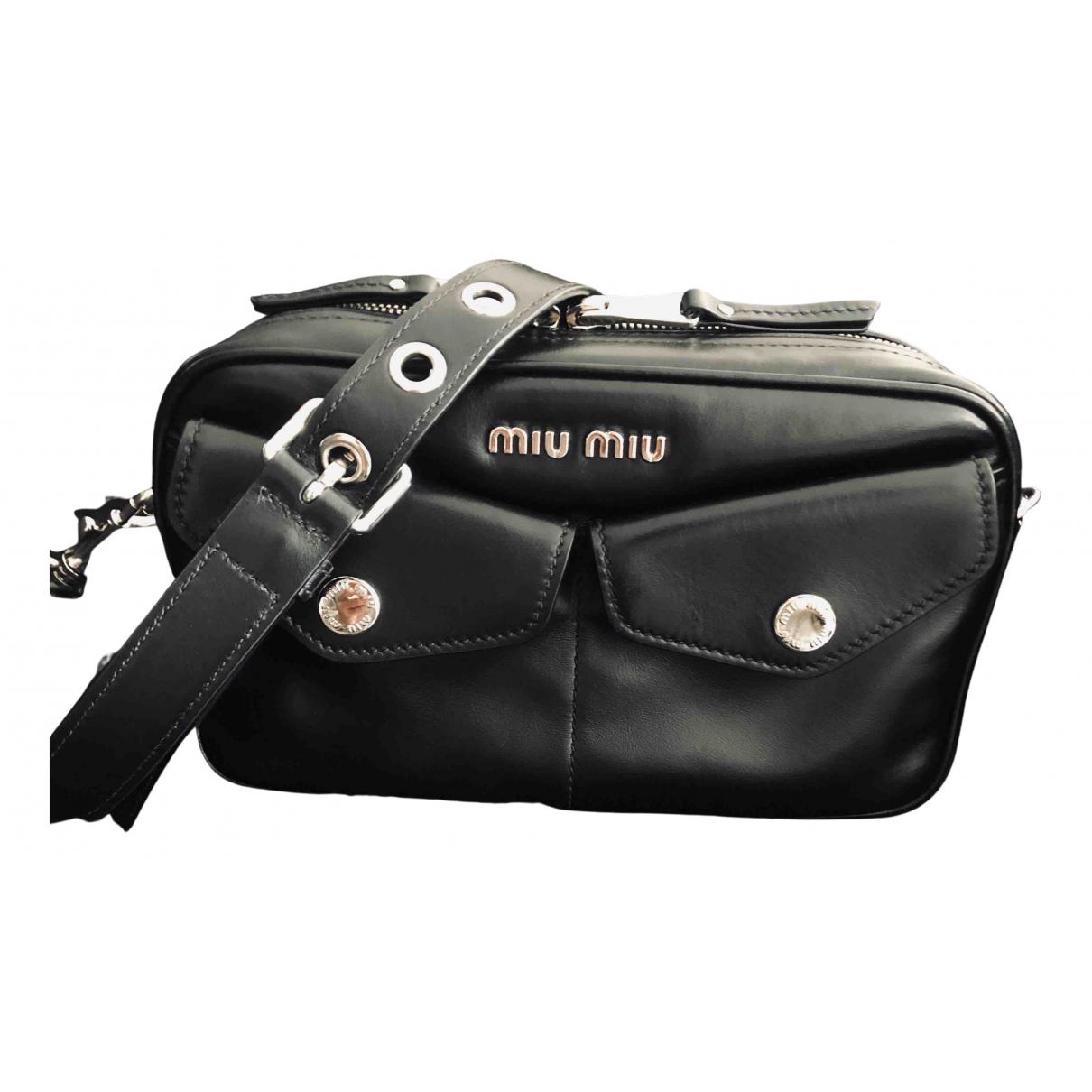 Miu Miu - Sac a main   pour femme en cuir - noir
