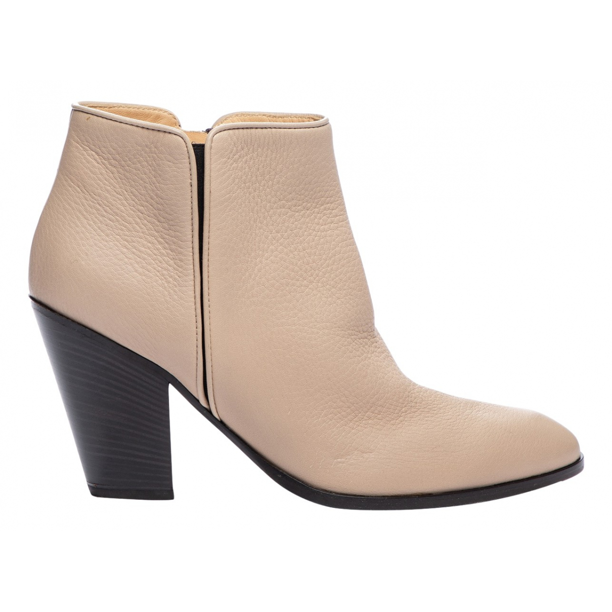 Giuseppe Zanotti \N Beige Leather Ankle boots for Women 39 EU
