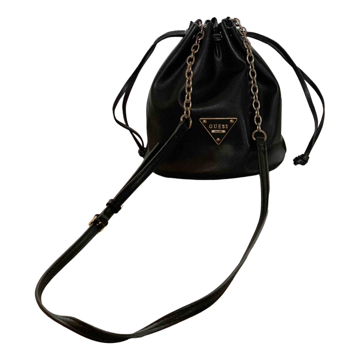 Guess N Black Suede Clutch bag for Women N