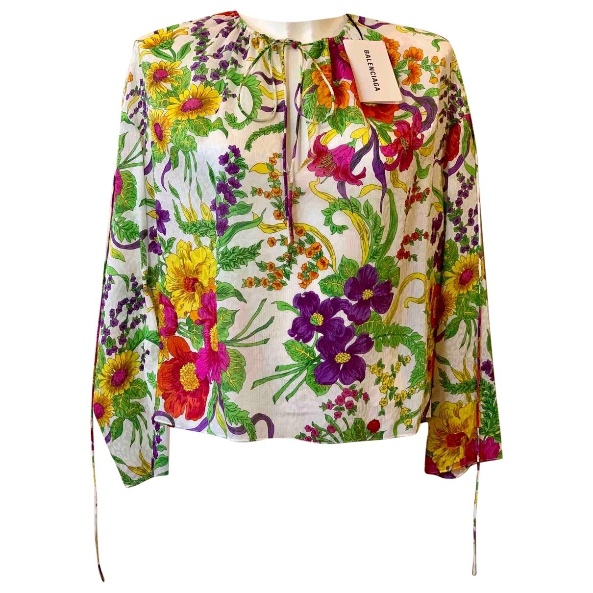 Balenciaga \N Multicolour Silk  top for Women 36 FR