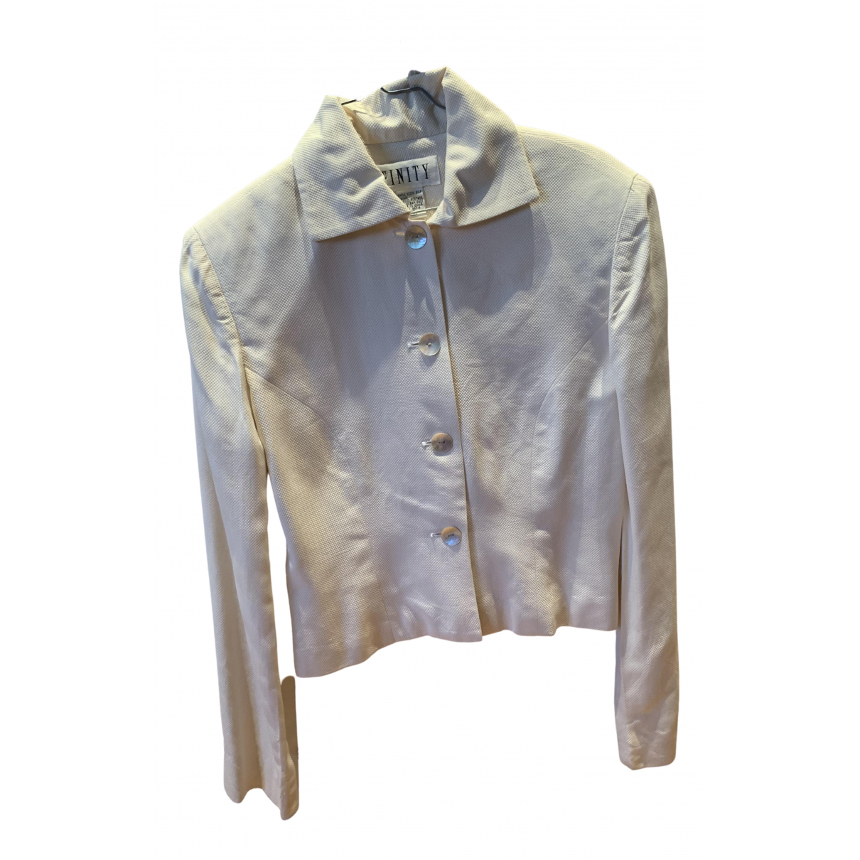 Non Signé / Unsigned \N Ecru Silk jacket for Women 4 US