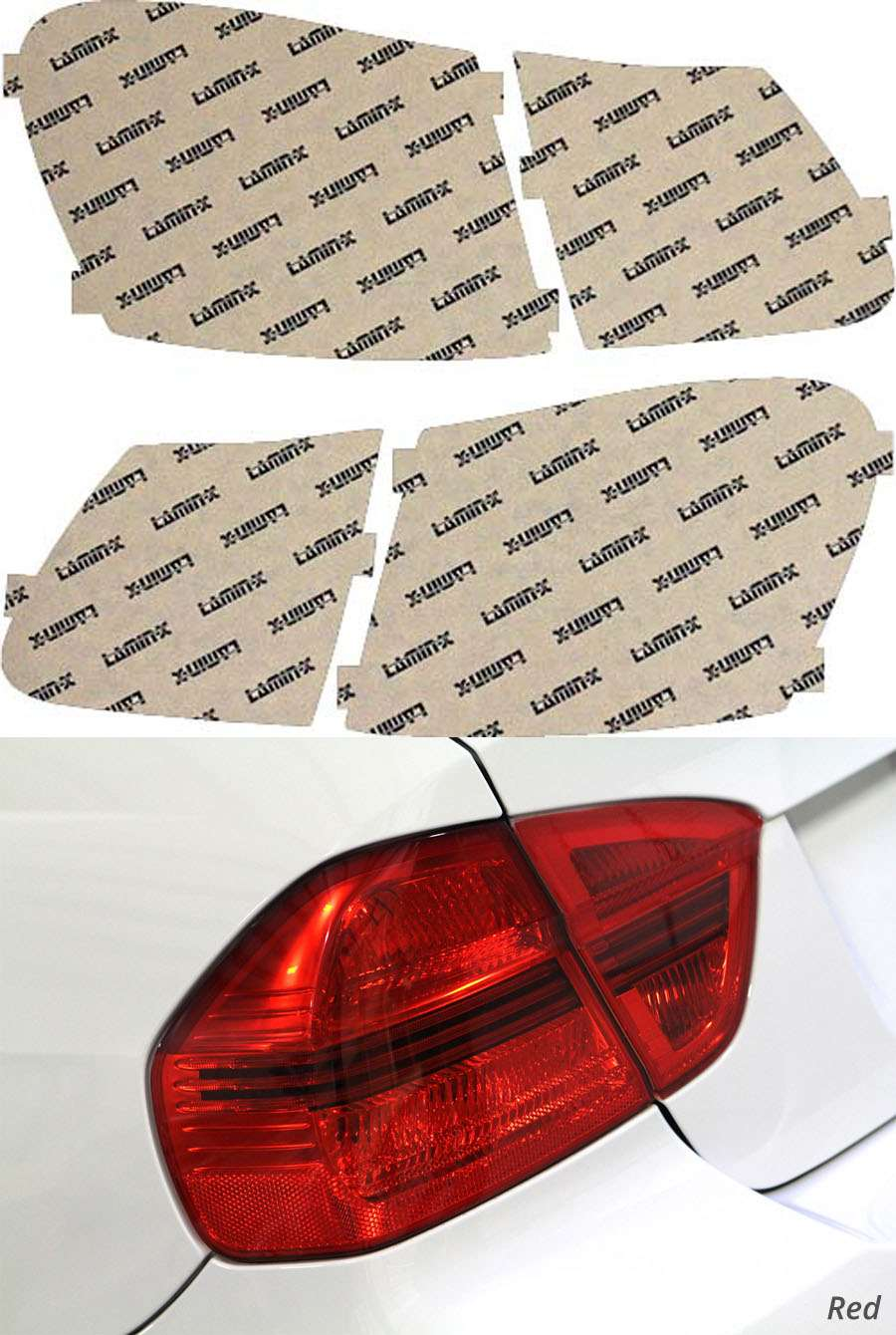 Lexus GS 06-12 Red Tail Light Covers Lamin-X L207R