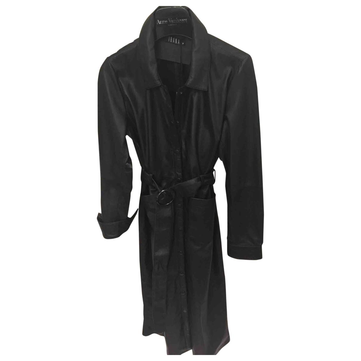 Ibana - Robe   pour femme en cuir - noir
