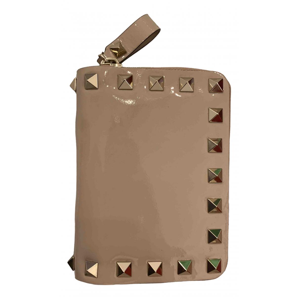 Valentino Garavani \N Beige Patent leather wallet for Women \N