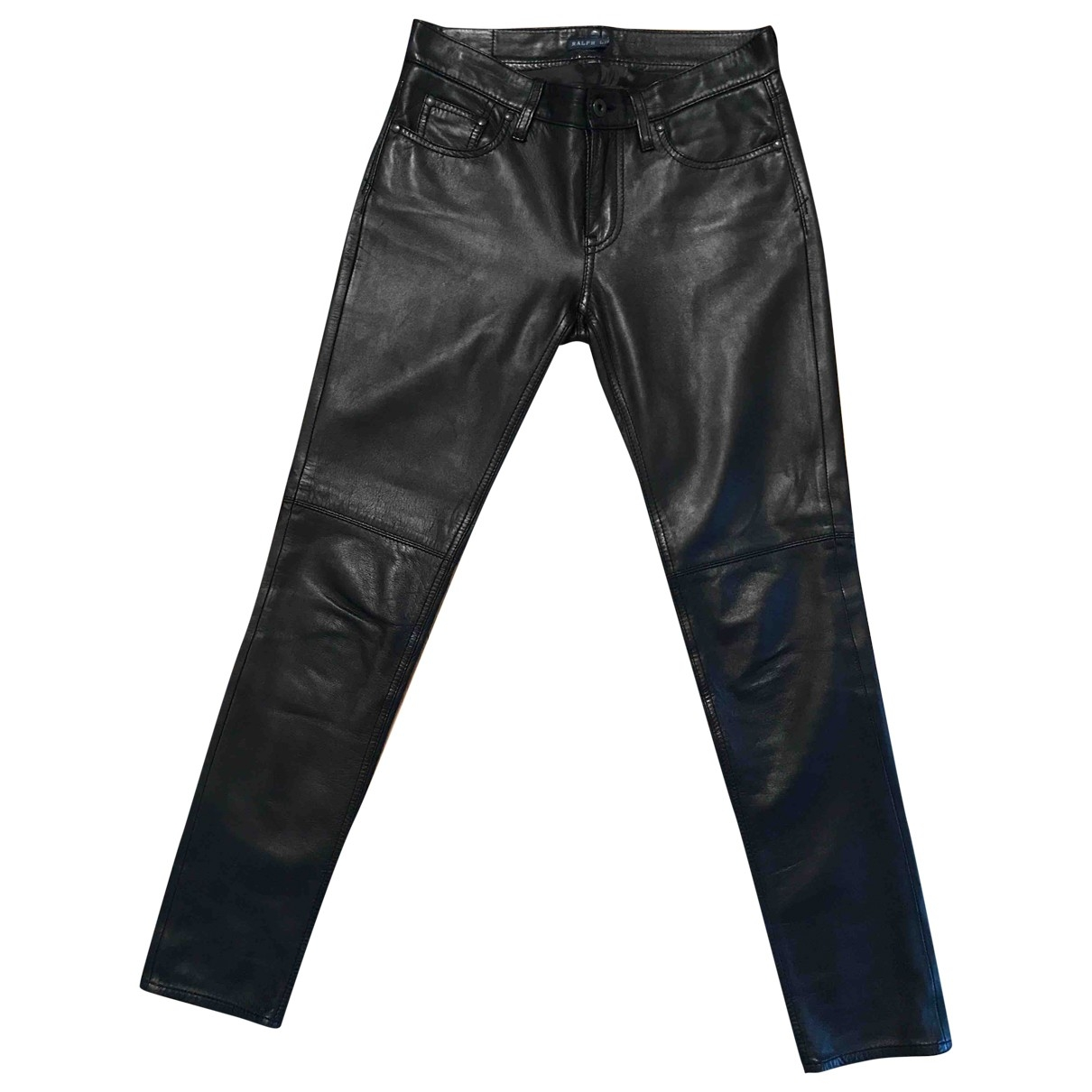 Ralph Lauren \N Black Leather Trousers for Women 6 UK