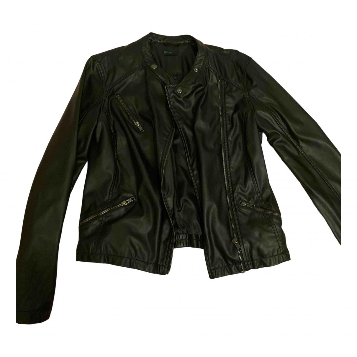 Benetton \N Jacke in  Schwarz Polyester