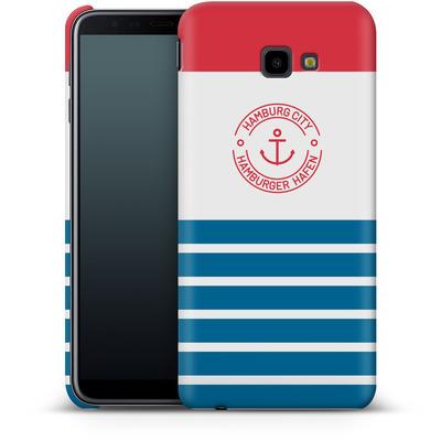 Samsung Galaxy J4 Plus Smartphone Huelle - Hamburger Hafen von caseable Designs
