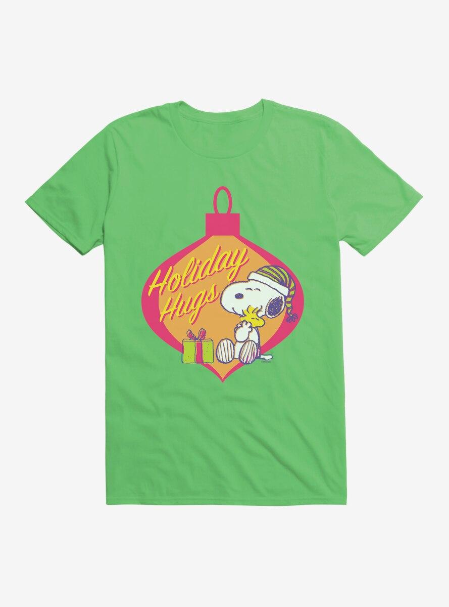 Peanuts Retro Pop Snoopy Woodstock Holiday Hugs T-Shirt