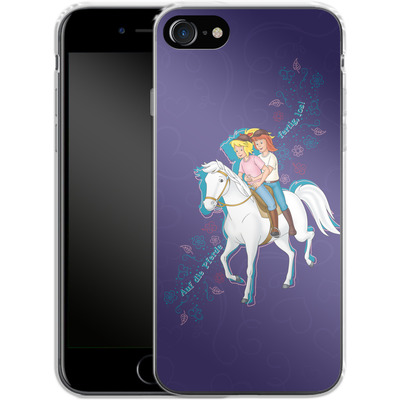 Apple iPhone 8 Silikon Handyhuelle - Bibi und Tina Pferd von Bibi & Tina