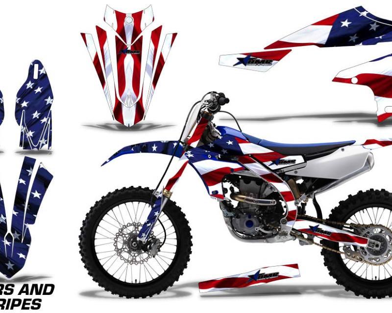 AMR Racing Dirt Bike Decal Graphics Kit MX Sticker Wrap For Yamaha YZ450F 2018+áUSA FLAG