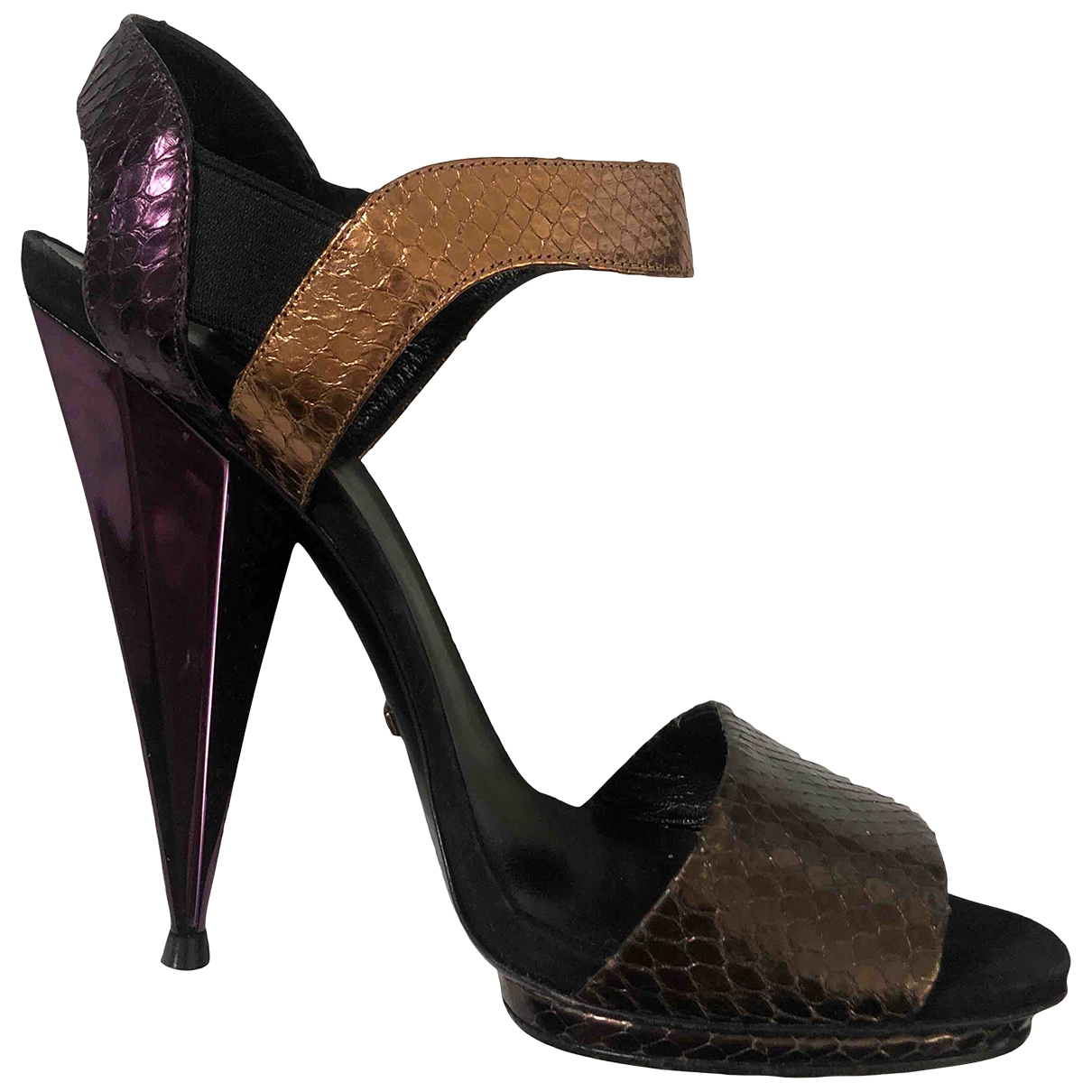 Gucci - Sandales   pour femme en cuir - violet