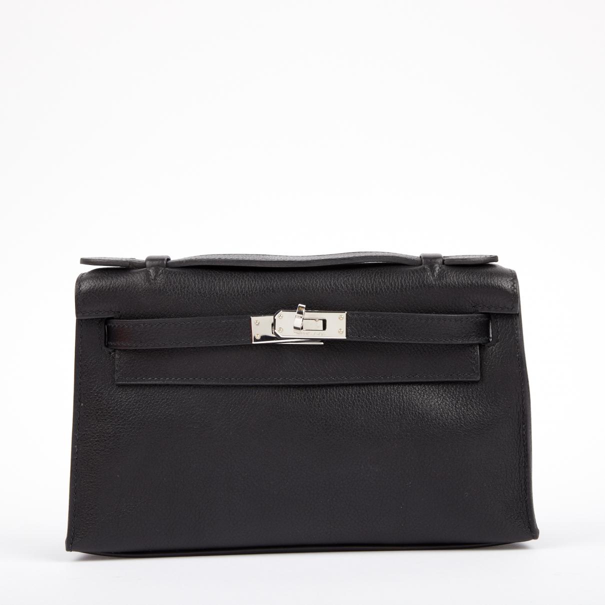 Hermès Kelly Clutch Black Leather Clutch bag for Women \N