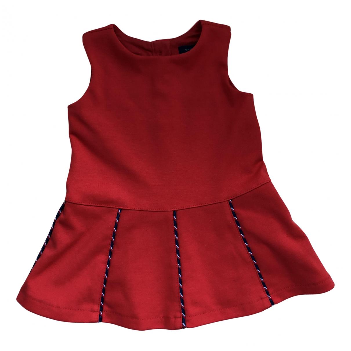 Tommy Hilfiger N Red Cotton dress for Kids 6 months - up to 67cm FR
