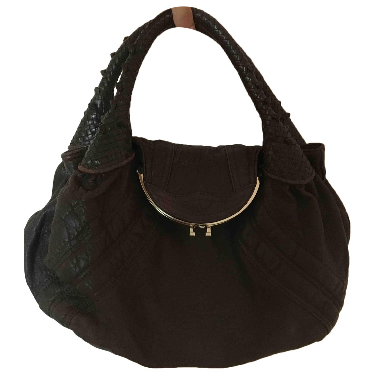 Fendi Spy Brown Leather handbag for Women \N