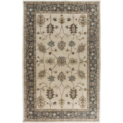 AWHR2050-58 5' x 8' Rug  in Khaki and Teal and Tan and Dark Brown and Sea