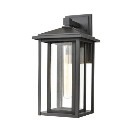 87133/1 Solitude 1-Light Sconce in Matte Black with Clear