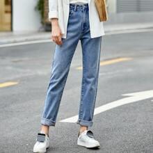 AMII Jeans mit hoher Taille und geradem Beinschnitt