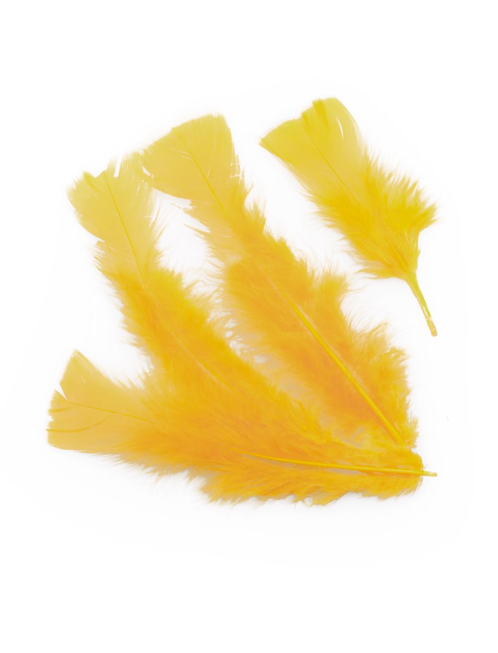 Kostuemzubehor Federn 100er-Pack gelb