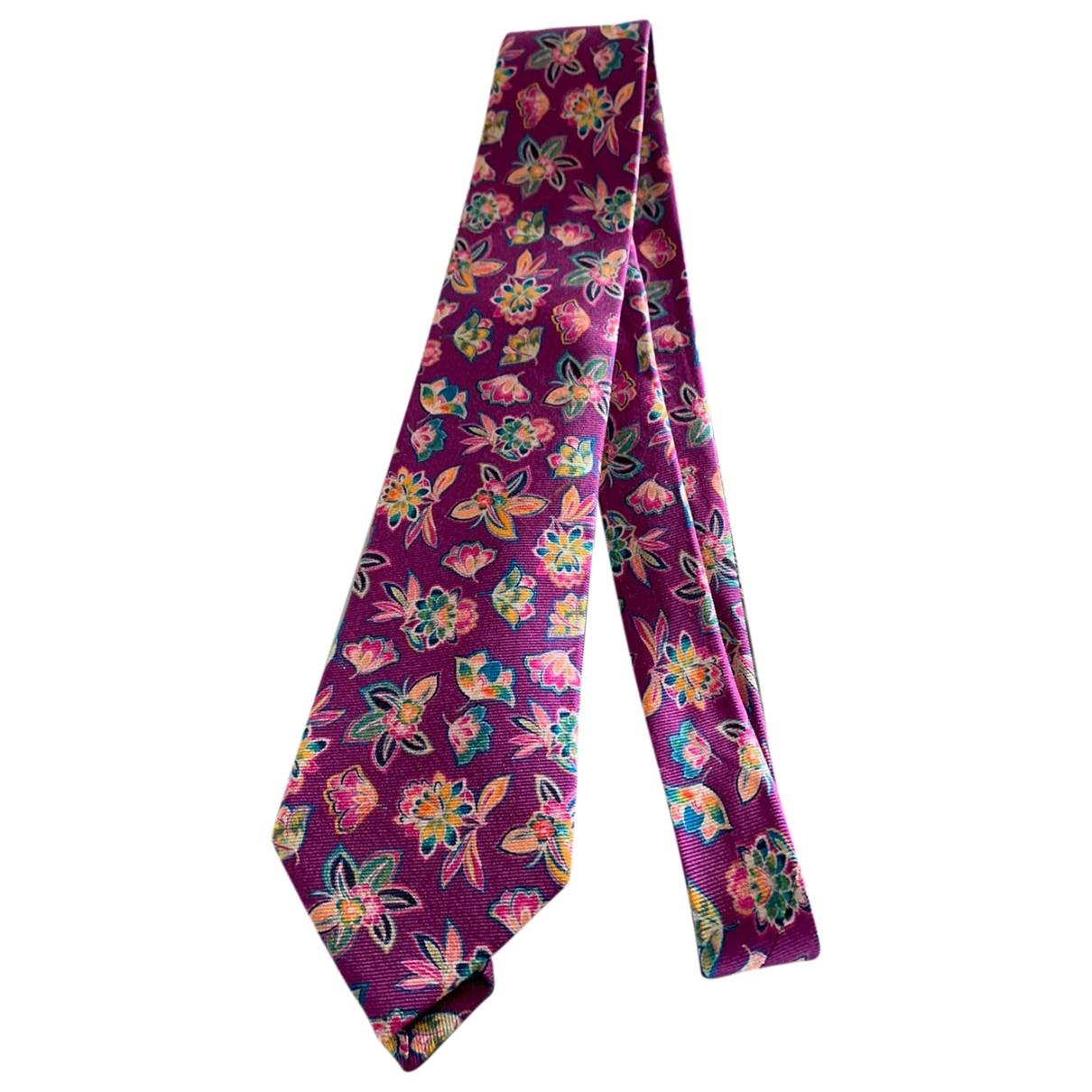 Etro \N Krawatten in  Lila Seide