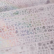 10 Blatt Feuer & Schneeflocke Muster Nail Sticker
