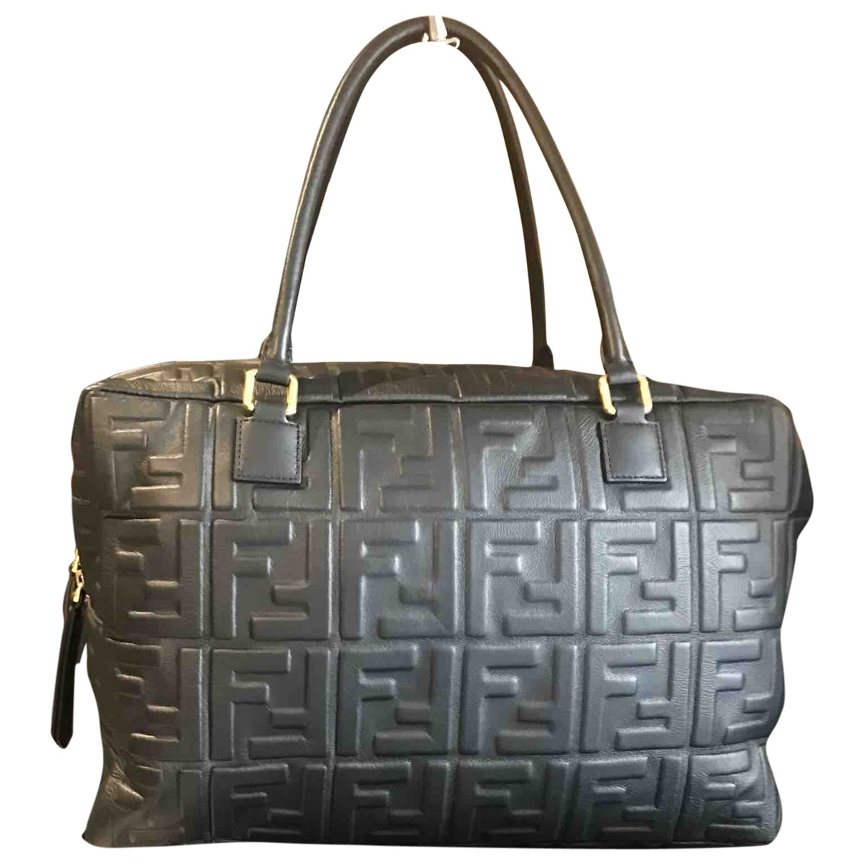 Fendi Double F Black Leather handbag for Women \N