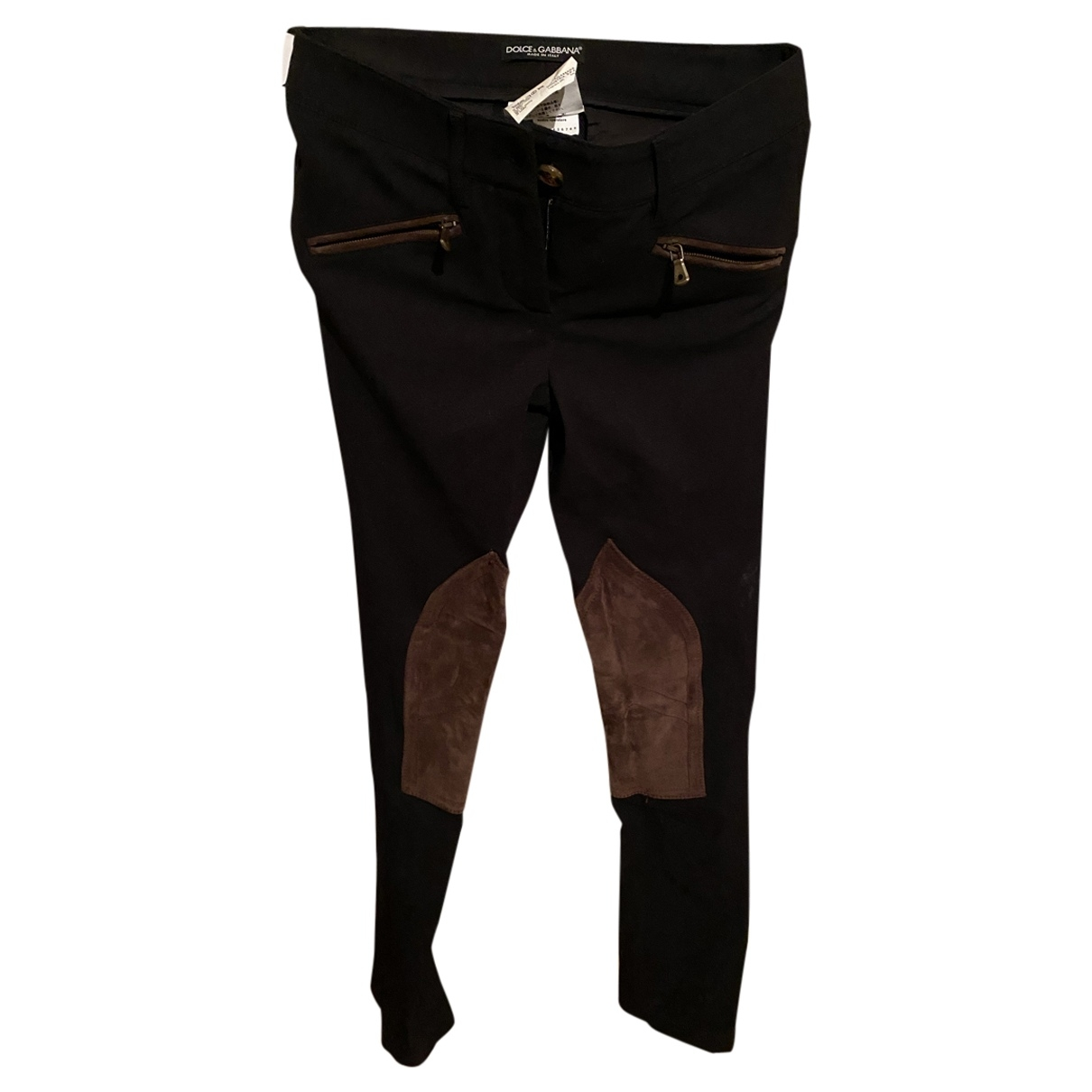 Dolce & Gabbana \N Brown Spandex Trousers for Women 38 IT