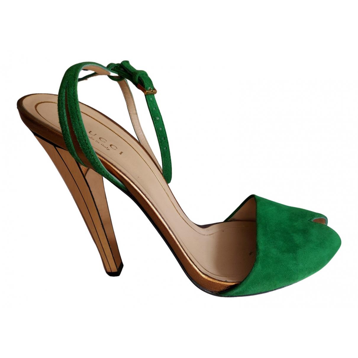 Gucci - Escarpins   pour femme en suede - vert
