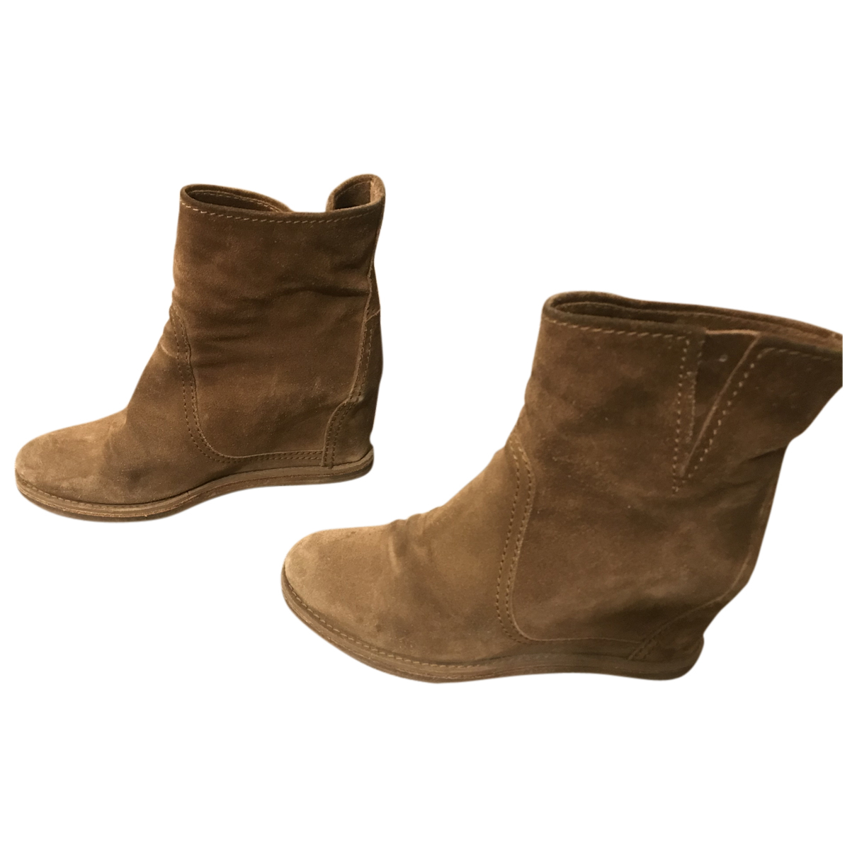 Carshoe N Camel Suede Ankle boots for Women 37 IT