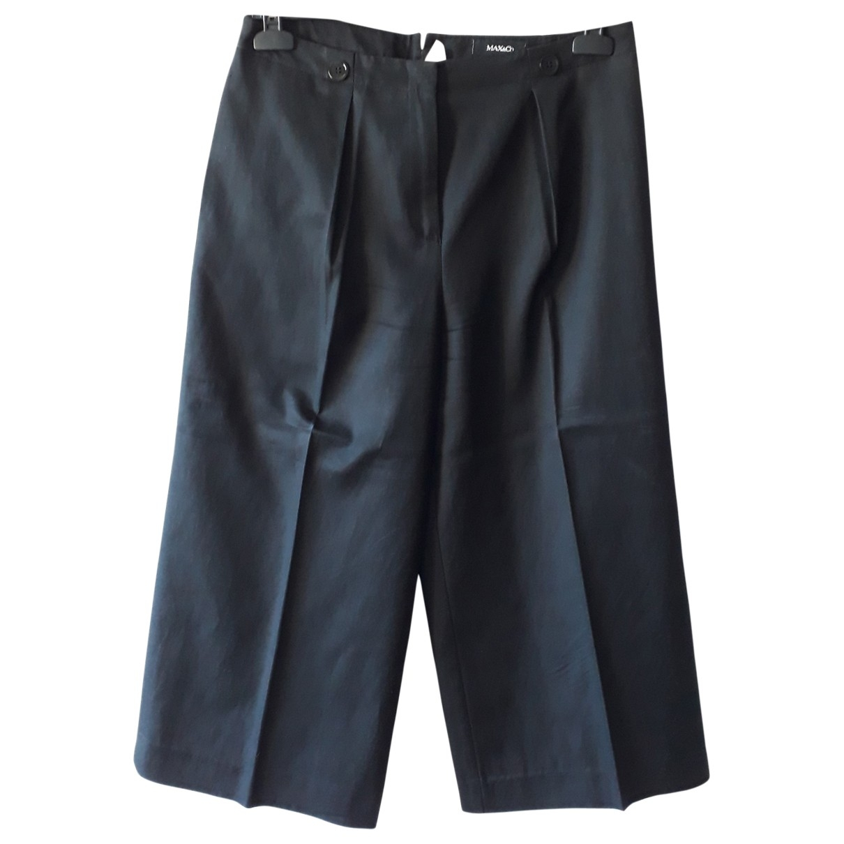 Max & Co \N Black Cotton Trousers for Women 42 IT
