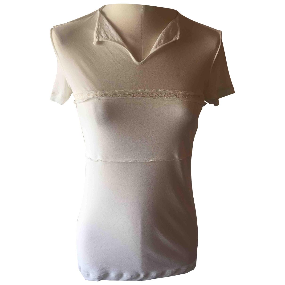 Nina Ricci \N Ecru Cotton  top for Women 38 FR