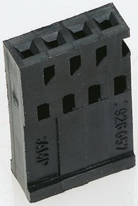 TE Connectivity , AMPMODU Female Connector Housing, 2.54mm Pitch, 8 Way, 1 Row