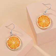 Ohrringe mit Orange Anhaenger