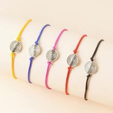 5pcs Round Decor String Bracelet