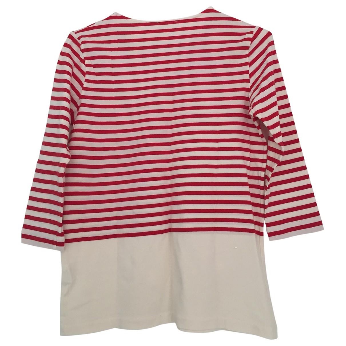 Cos - Top   pour femme en coton - rouge