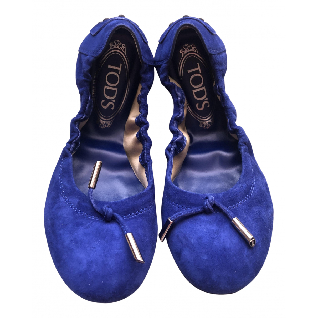 Tods \N Ballerinas in  Blau Veloursleder
