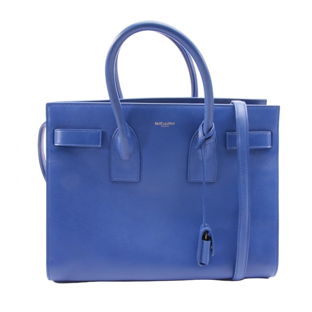 Saint Laurent Sac de Jour Blue Leather handbag for Women \N
