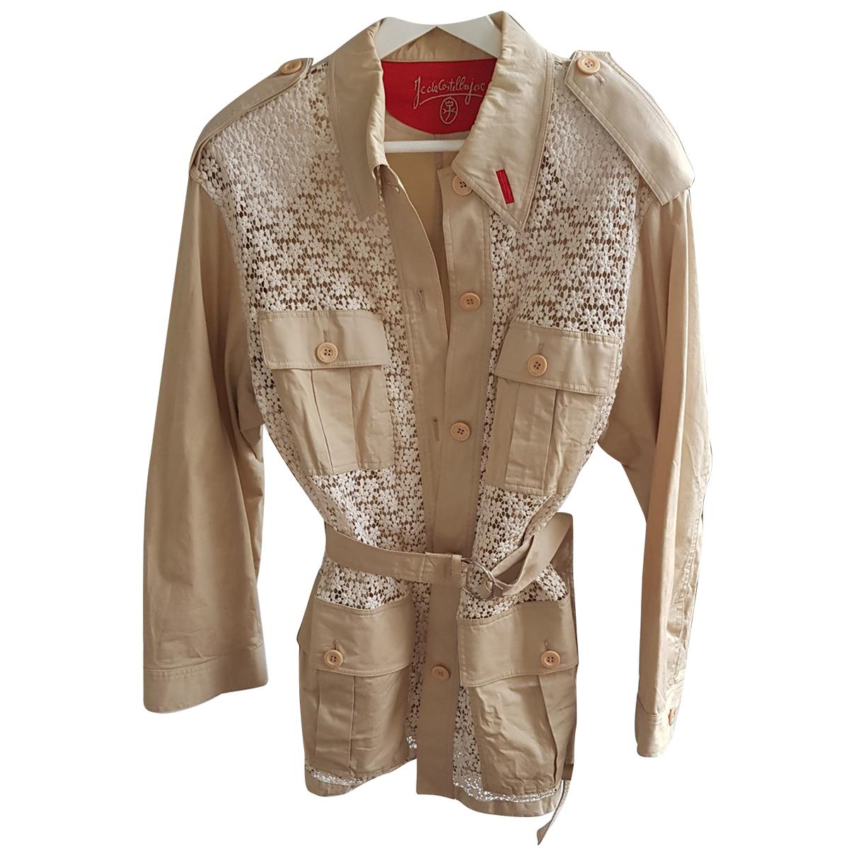 Jc De Castelbajac - Trench   pour femme en coton - beige