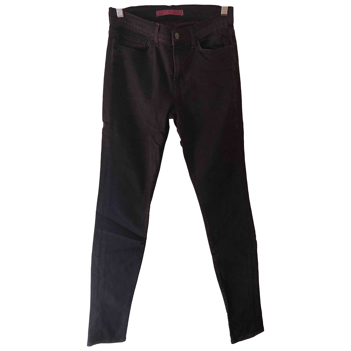 J Brand N Burgundy Cotton Jeans for Women 27 US