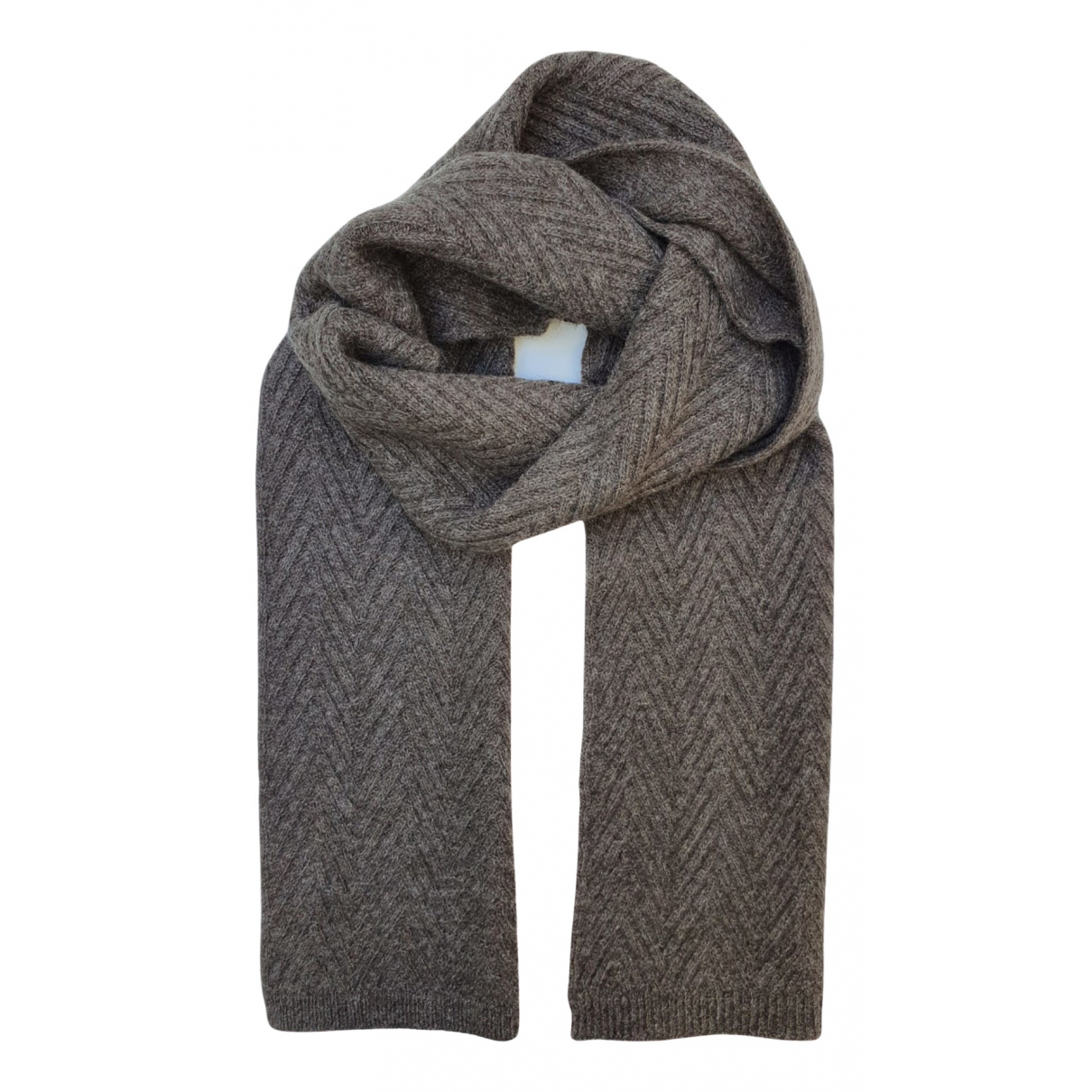 Non Signé / Unsigned \N Brown Wool scarf for Women \N